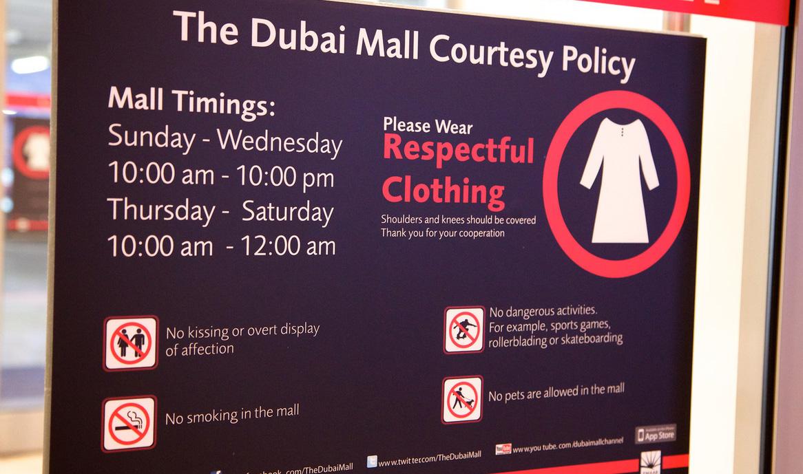 dubaj öltözködési szabályok