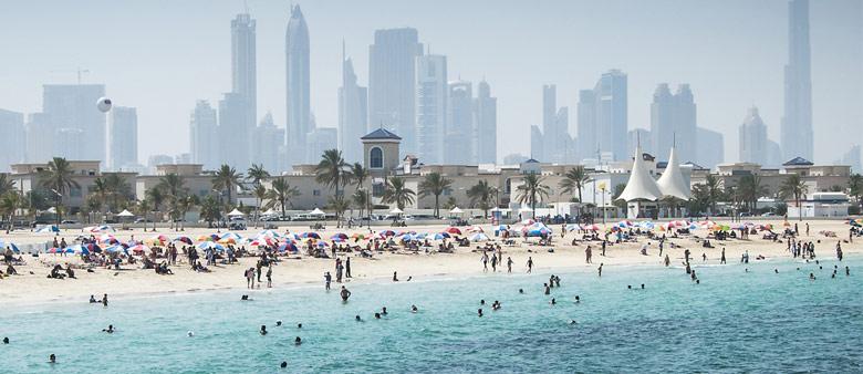 dubaj strand időjárás